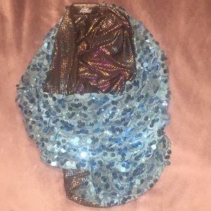 Burning man scarf hood stardust love race